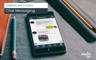 Chat in the TennisPAL App